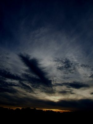 Brilliant Evening Sky Photograph
