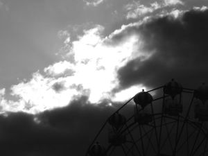 Big Wheel Against Sky Line Photo