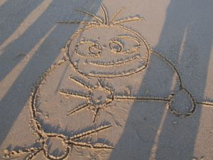 Devil Dan Childrens Sand Drawing Photo
