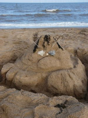 Grumpy Sand Monster