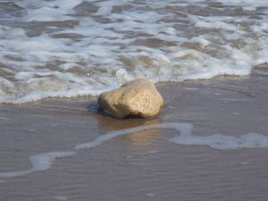 Stone in the Surf Photo