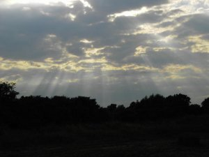 Sunshine Through Clouds Image
